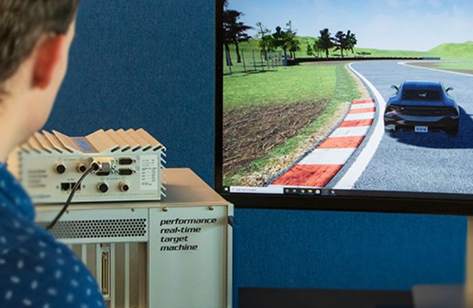Real-Time Simulation and Control of High-Performance All-Electric Autonomous Racing Cars